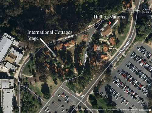 Satellite Map of House of Pacific Relations International Cottages in Balboa Park